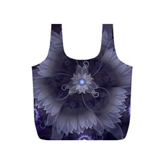 Amazing Fractal Triskelion Purple Passion Flower Full Print Recycle Bags (S)