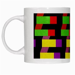 Colorful rectangles and squares                        White Mug