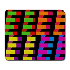 Colorful rectangles and squares                        Large Mousepad