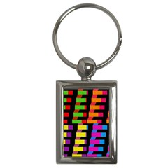 Colorful rectangles and squares                        Key Chain (Rectangle)