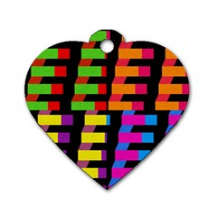 Colorful rectangles and squares                        Dog Tag Heart (One Side)