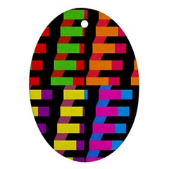 Colorful rectangles and squares                        Ornament (Oval)