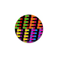 Colorful rectangles and squares                        Golf Ball Marker (4 pack)