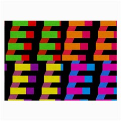 Colorful rectangles and squares                        Large Glasses Cloth