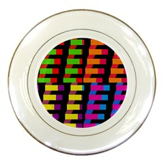 Colorful rectangles and squares                        Porcelain Plate
