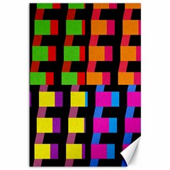 Colorful rectangles and squares                        Canvas 12  x 18