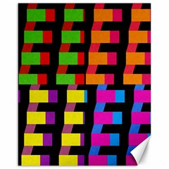 Colorful rectangles and squares                        Canvas 16  x 20