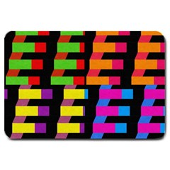 Colorful Rectangles And Squares                        Large Doormat