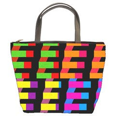 Colorful rectangles and squares                   Bucket Bag