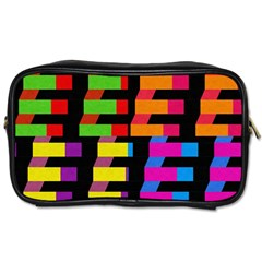 Colorful rectangles and squares                        Toiletries Bag (Two Sides)
