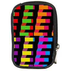 Colorful Rectangles And Squares                        Compact Camera Leather Case