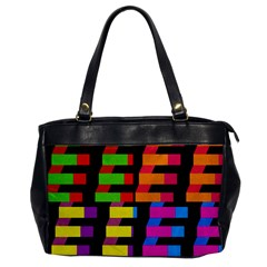 Colorful rectangles and squares                        Oversize Office Handbag