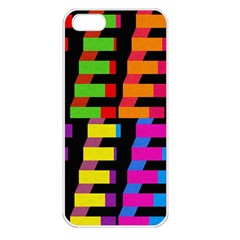 Colorful rectangles and squares                  Apple iPhone 5 Seamless Case (White)