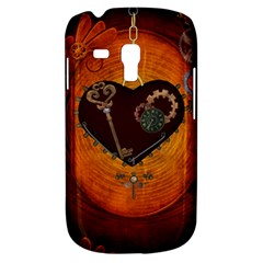 Steampunk, Heart With Gears, Dragonfly And Clocks Galaxy S3 Mini