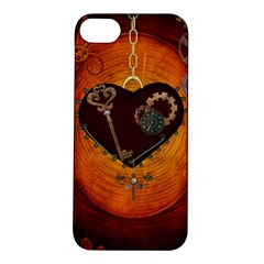 Steampunk, Heart With Gears, Dragonfly And Clocks Apple Iphone 5s/ Se Hardshell Case