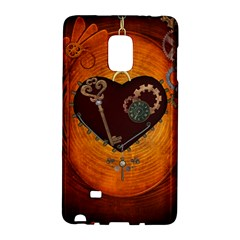 Steampunk, Heart With Gears, Dragonfly And Clocks Galaxy Note Edge