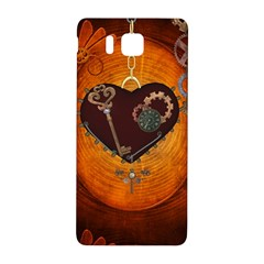 Steampunk, Heart With Gears, Dragonfly And Clocks Samsung Galaxy Alpha Hardshell Back Case