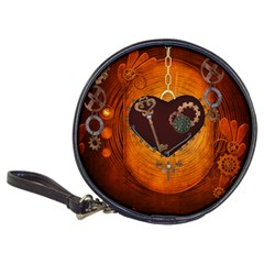 Steampunk, Heart With Gears, Dragonfly And Clocks Classic 20-CD Wallets