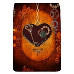 Steampunk, Heart With Gears, Dragonfly And Clocks Flap Covers (L)