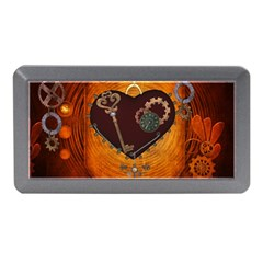 Steampunk, Heart With Gears, Dragonfly And Clocks Memory Card Reader (Mini)