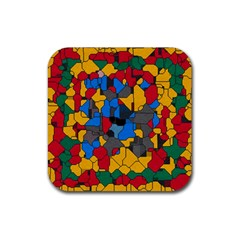 Stained glass                        Rubber Square Coaster (4 pack