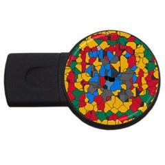 Stained glass                        USB Flash Drive Round (2 GB)