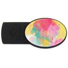Pastel watercolors canvas                        USB Flash Drive Oval (2 GB)