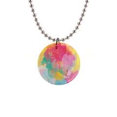 Pastel watercolors canvas                        1  Button Necklace