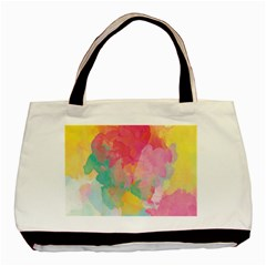 Pastel watercolors canvas                        Basic Tote Bag
