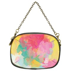 Pastel watercolors canvas                   Chain Purse (Two Sides)