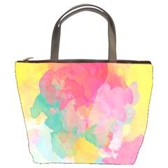 Pastel watercolors canvas                   Bucket Bag