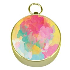 Pastel watercolors canvas                        Gold Compass
