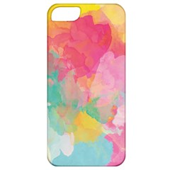 Pastel watercolors canvas                  Apple iPhone 5 Hardshell Case (PC+Silicone)