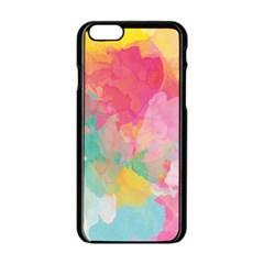 Pastel watercolors canvas                  Apple iPhone 6/6S White Enamel Case