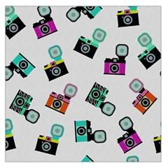 Old cameras pattern                        Satin Scarf