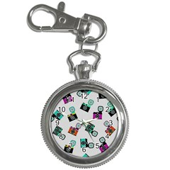 Old Cameras Pattern                        Key Chain Watch