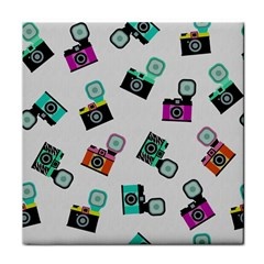 Old cameras pattern                        Face Towel