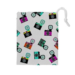 Old cameras pattern                        Drawstring Pouch