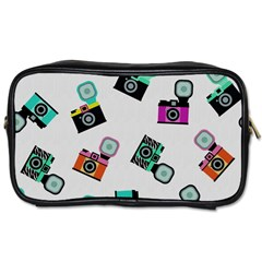 Old cameras pattern                        Toiletries Bag (One Side)