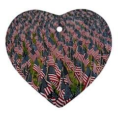 Repetition Retro Wallpaper Stripes Ornament (heart)