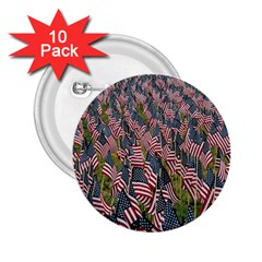 Repetition Retro Wallpaper Stripes 2 25  Buttons (10 Pack)