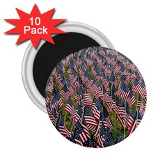 Repetition Retro Wallpaper Stripes 2.25  Magnets (10 pack)