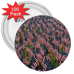 Repetition Retro Wallpaper Stripes 3  Buttons (100 pack)