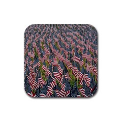 Repetition Retro Wallpaper Stripes Rubber Coaster (Square)
