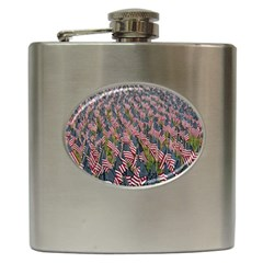 Repetition Retro Wallpaper Stripes Hip Flask (6 oz)