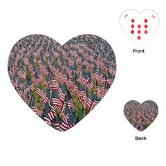 Repetition Retro Wallpaper Stripes Playing Cards (Heart)