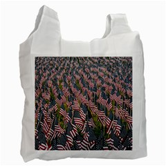 Repetition Retro Wallpaper Stripes Recycle Bag (One Side)