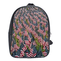 Repetition Retro Wallpaper Stripes School Bags (XL)