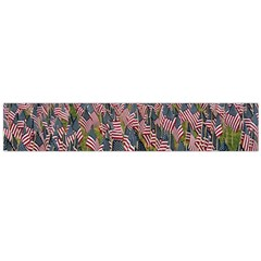 Repetition Retro Wallpaper Stripes Flano Scarf (Large)