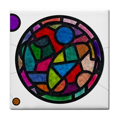 Stained Glass Color Texture Sacra Tile Coasters